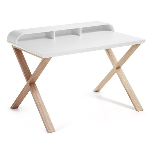 White and Ash Desk